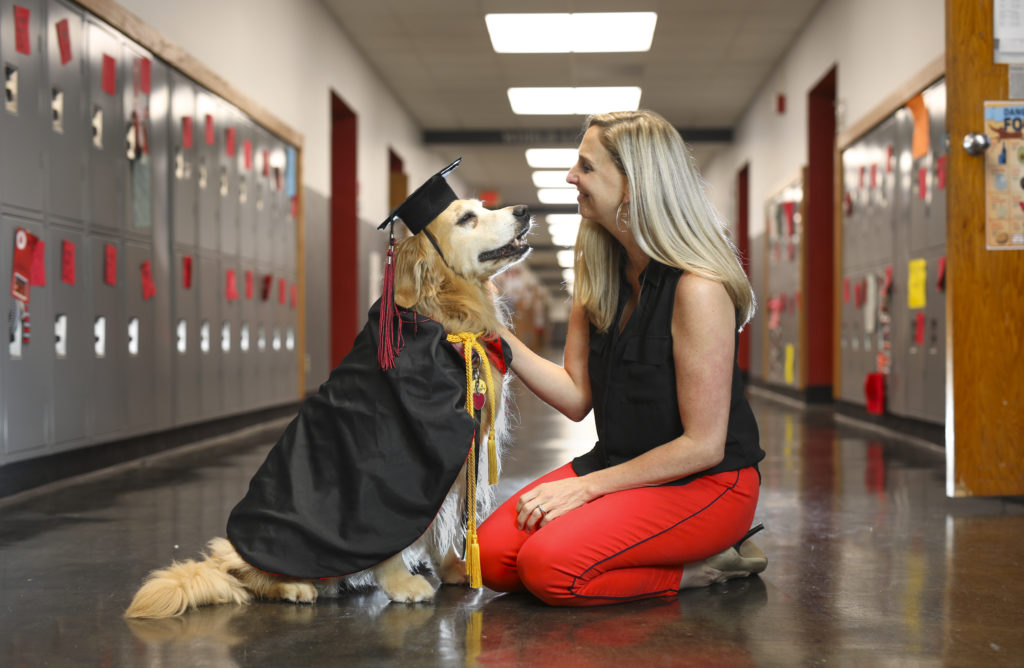 Beloved therapy dog to don her own cap, gown at Lawrence High\'s ...