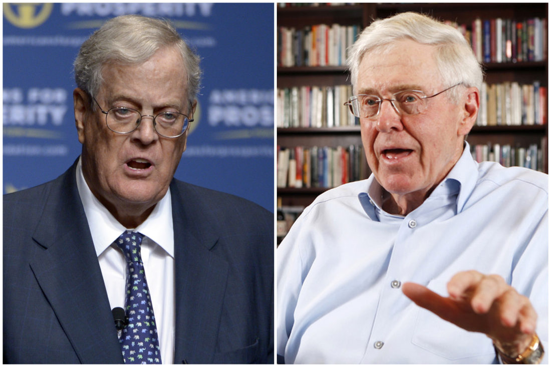 Donald Trump calls billionaire Koch brothers a