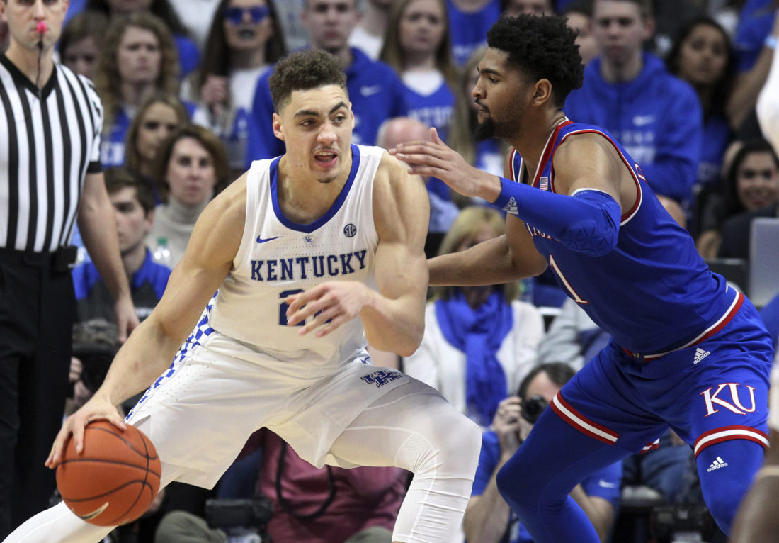 Kansas Jayhawks at Kentucky Wildcats College Basketball Betting Odds