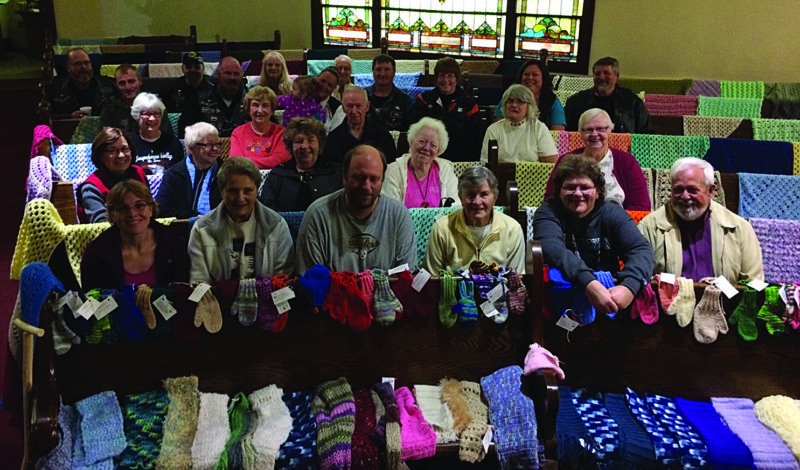 Knitters and other needle-work afficionados in the Bald Eagle United Presbyterian Church Prayer Shawl Ministry created more than 700 items that were delivered by Susquehanna Valley Big Twins Motorcycle Club during the third annual Knit N Run.