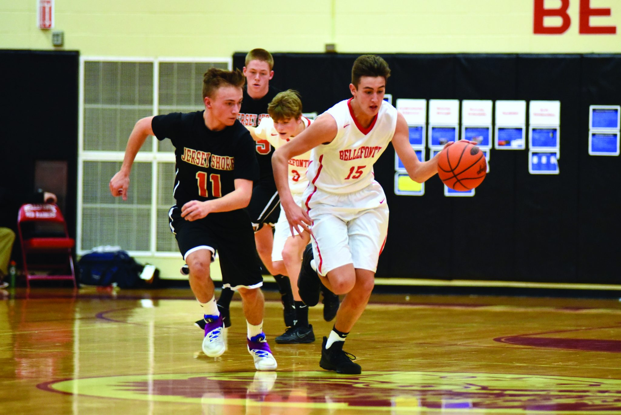 SHORE WINS THRILLER: Jersey Shore barely holds on against the Red Raiders of Bellefonte, 54-53 ...