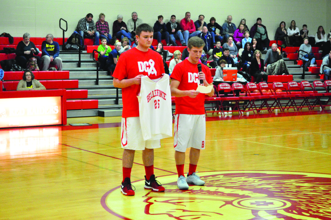It was senior night at Bellefonte High School as they took on Bald Eagle Area. The Red Raiders won 45-35 to celebrate their seniors. (For The Express/Phil Mapstone)