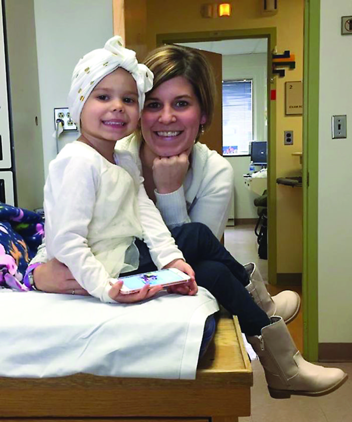 PHOTO PROVIDED  Three-year-old Finley and her mother Casey.