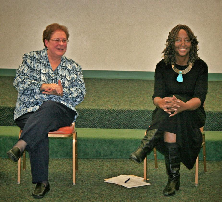 PHOTO PROVIDED Dr. Karen Kline and Dr. Sharon Stringer spoke at the event.