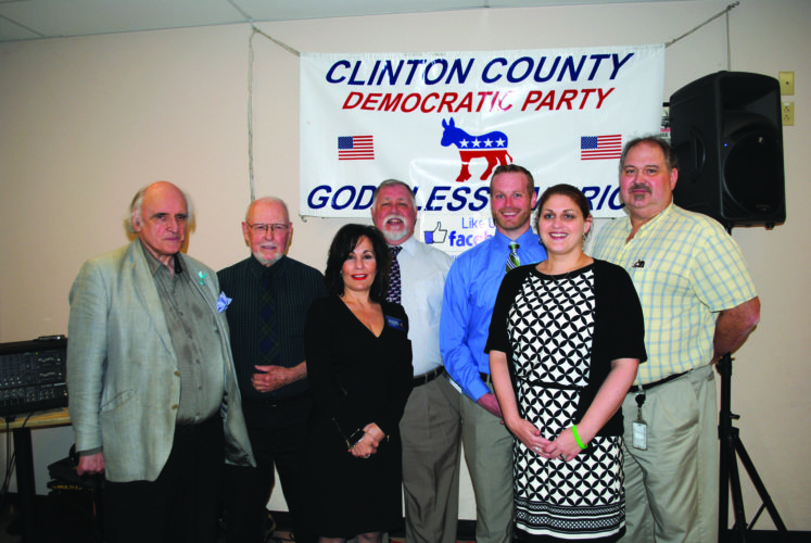 "Candidates in the May 16 Primary Election include, from left, Richard Morris (running for city council), Ted Forbes (city council), Judge Maria McLaughlin (Superior Court), Steve Stevenson (city council), Zach Hanna (coroner), Michelle Crowell (county treasurer) and Joseph ""Satch"" Sanders III (district judge)."