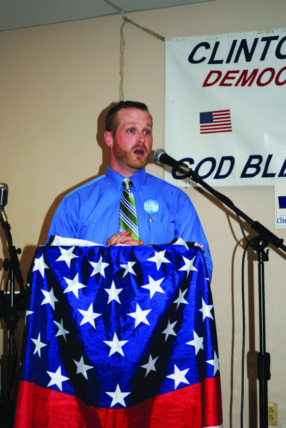 Candidates speaking at the dinner included Zach Hanna, running for county coroner.