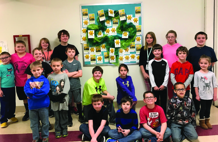 Renovo Elementary students created a Wall of Hope.