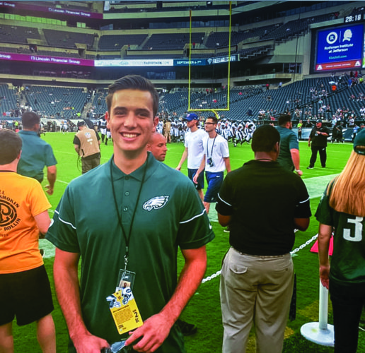 Penn College web and interactive media alumnus Christopher C. Rutledge is employed by the Philadelphia Eagles as digital project coordinator.