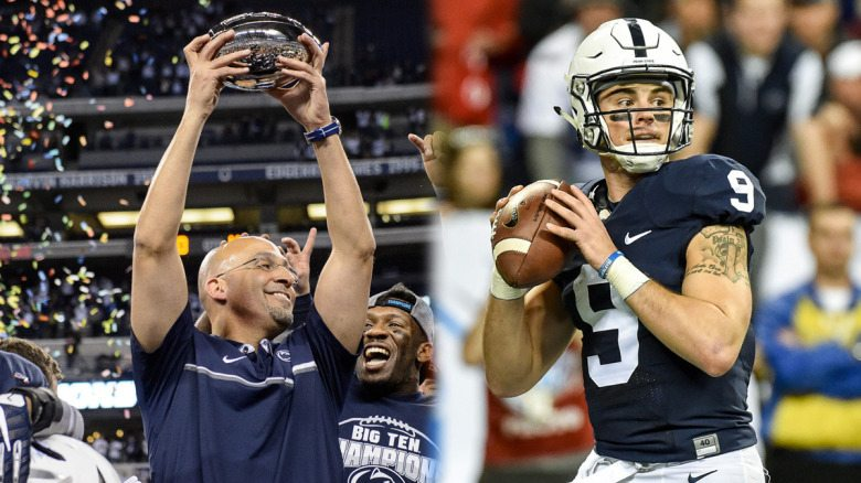 Penn State's head coach James Franklin (left) and quarterback Trace McSorley (right) were each named to preseason watch lists. (Photo courtesy of Penn State football)