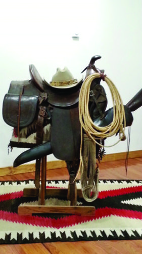 PHOTO PROVIDED This saddle is an antique American saddle from the early 1850s and is on loan from Walt Peterson of Bellefonte.