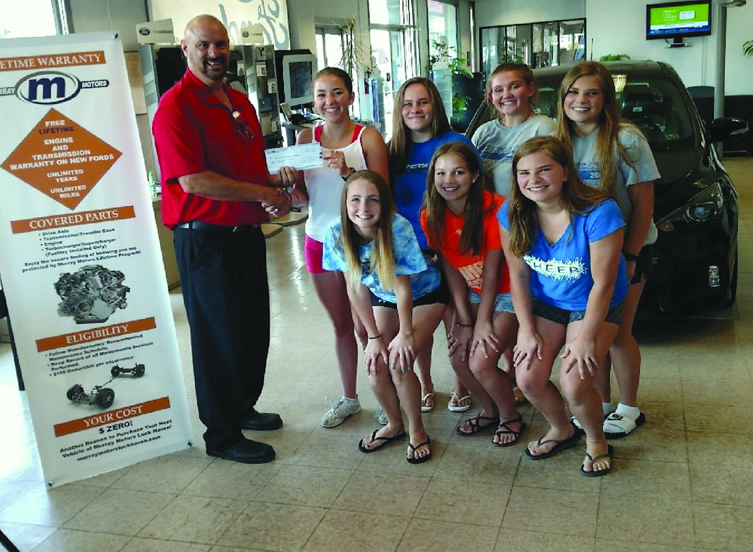 murray motors supports cheerleaders with car wash news