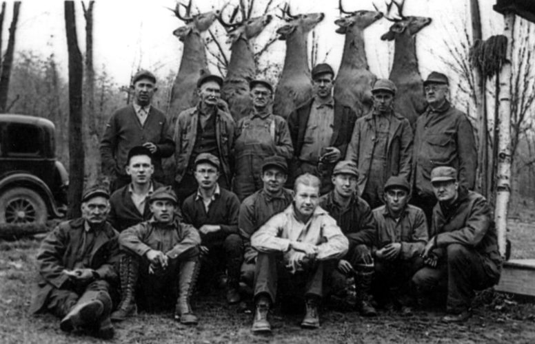 PHOTO PROVIDED This photo, provided by Thomas J. Wilson of Bellefonte, was taken at Middle Branch Camp on Jan. 15, l934. It appears camp members had a good day deer hunting.