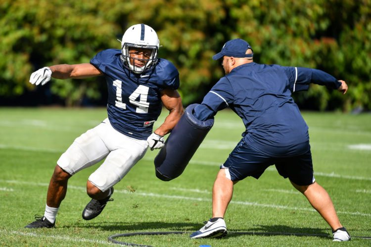 Penn State continues  preparations for the 2017 campaign with practice no. 6. The Nittany Lions open the season with the University of Akron on Sept. 2, 2017.  Photo by Mark Selders