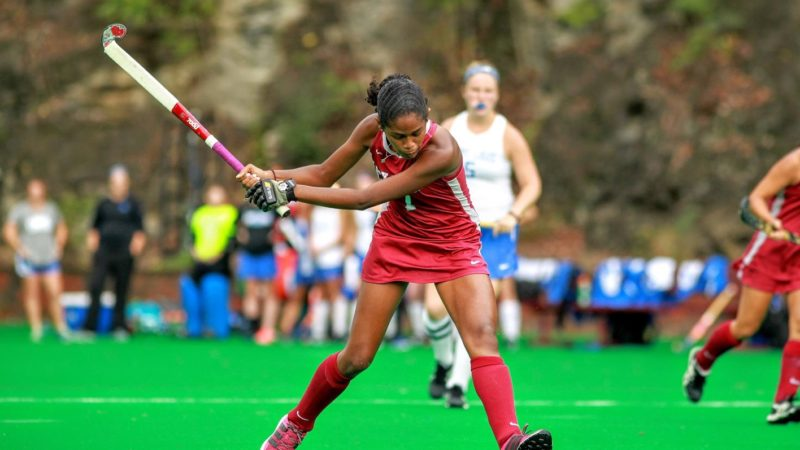 Lock Haven University's junior Tamia Roach was named to the A-10 Preseason All-Conference Team. (Photo of LHU Field Hockey)