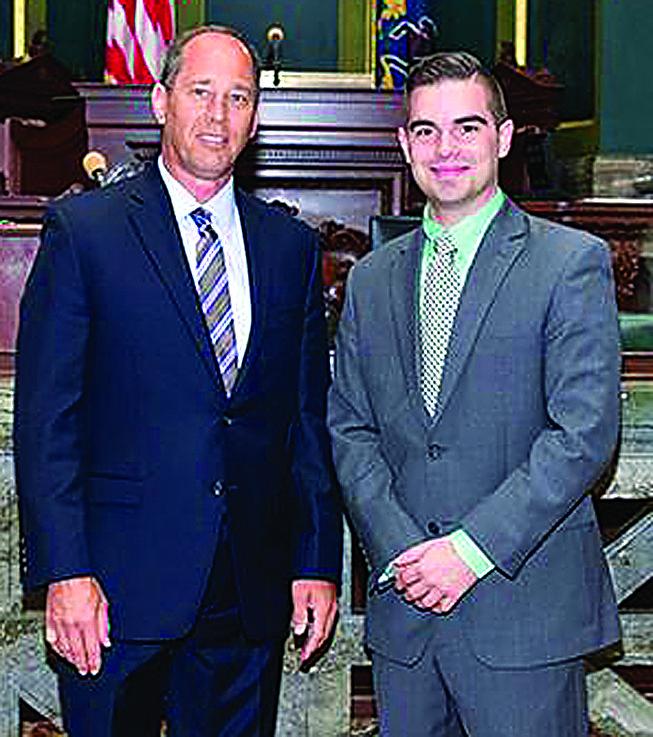 PHOTO PROVIDED John Gower stands with Sen. Joe Scarnati.