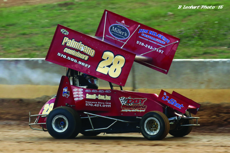 """Blackjack"" Brian Brown made his first appearance at Selinsgrove and Bedford Speedways for a total of $13,000 in winnings. (Photo courtesy of Clinton County Motor Speedway)"