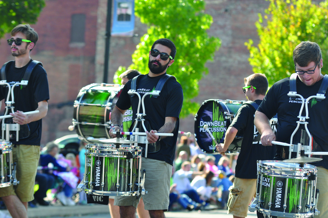 KEVIN RAUCH/FOR THE EXPRESS DownBeat Percussion, the official drumline of the Buffalo Bills, will be making two appearances on Saturday in Renovo. First, the unit will take to the streets of Renovo for the 69th annual Parade of Queens. Following the parade the group will perform their stage show near the Lutheran Church on 11th Street so that all those shopping at the Craft Show can enjoy even more music from the drumming act.