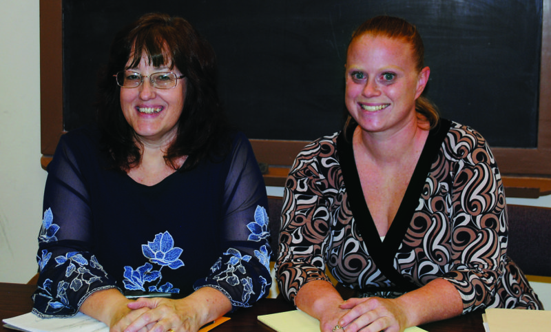 WENDY STIVER/THE EXPRESS Maria Boileau, left, has been hired as the new planner and development coordinator for the City of Lock Haven, and Morgan Sweely, right, is the city's new finance director.