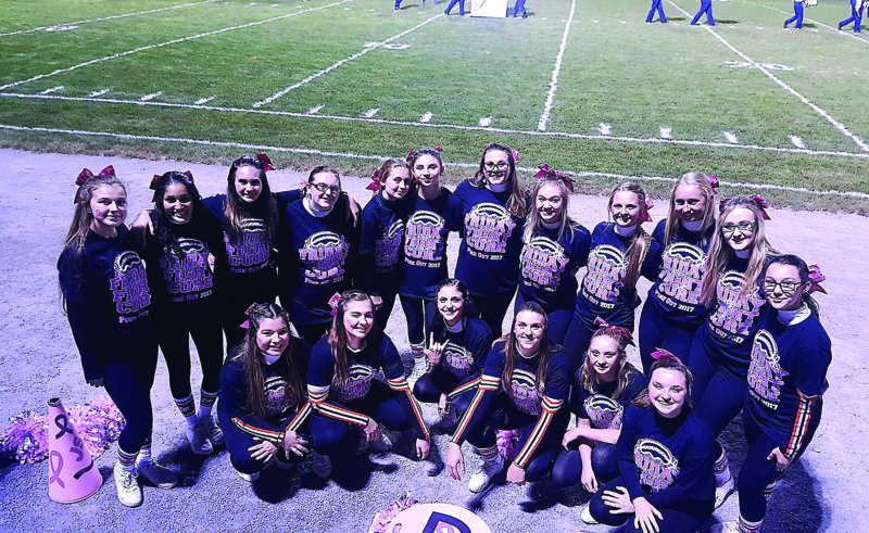 PHOTO PROVIDED Members of the team are, from left, top row, Chiara Tibbens, Portia Williams, Emma Gillespie, Quinn Green, Ava Blesh, Kya Coleman, Rachel Swanhart, Erica Fenstermacher, Kayleigh Bowes, Emily Liddic, Katie Keiss, Gabby Zydallas; bottom row, Cassie Weaver, Hunter Swartz, Lissa Delbo, Natalie Winchester, Emalee Haines, Madaline Prichard. Not present for photo, Madison Griffis, Cheryl Demers.