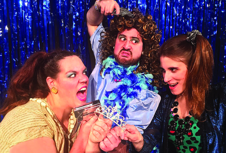 """PHOTO PROVIDED The cast of """"The Madcap Musical Murder Mystery"""" at Millbrook Playhouse includes, from left, Shannon Agnew, David Groccia and Aubrey Potash."""