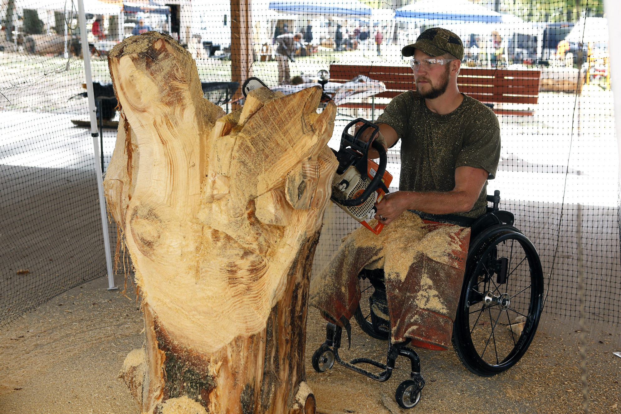 Chainsaw carving on display news sports jobs the express