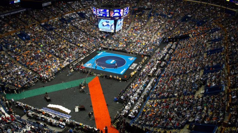 The 2017 NCAA College Wrestling Championships took place in St. Lous, Missouri last year. (Photo courtesy of LHU Wrestling)