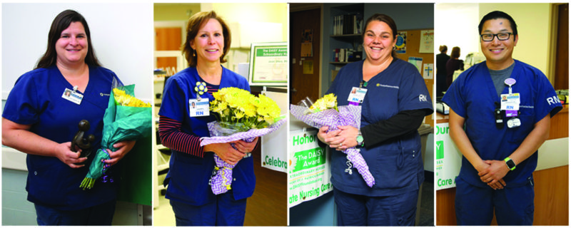 PHOTO PROVIDED From left is Jolene Cruttenden, RN; Jean Shea, RN; April McCusker, RN; and Joshua Pauling, BSN.