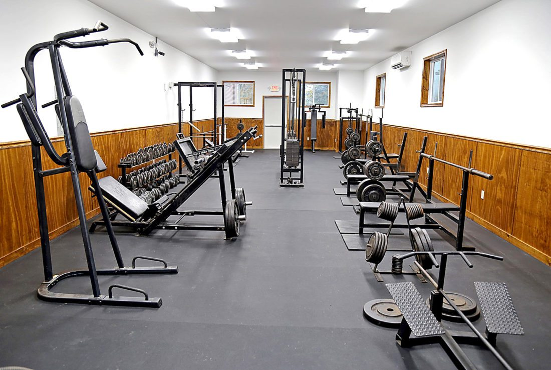 PHOTO PROVIDED The new weight room is seen at the Western Clinton County Recreation Authority recently.