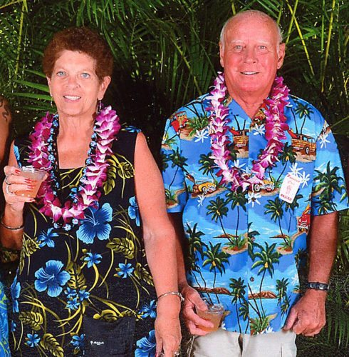 Kathy and Ron Houser celebrate their 50th wedding anniversary trip to Hawii.