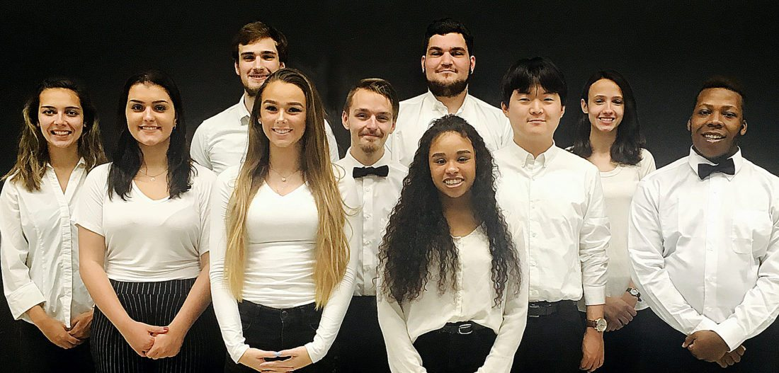 PHOTO PROVIDED The Lock Haven University Jazz Choir will perform holiday favorites next Wednesday at The Station Gallery.