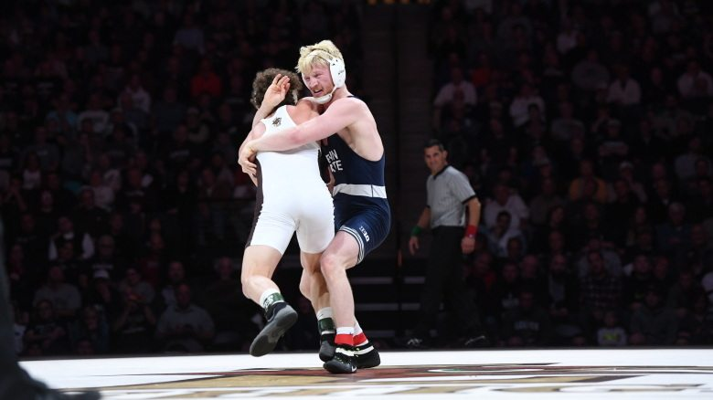 Penn State escaped an upset from Lehigh University on Sunday as they clung on to a 23-19 win. (Photo courtesy of Penn State Wrestling)