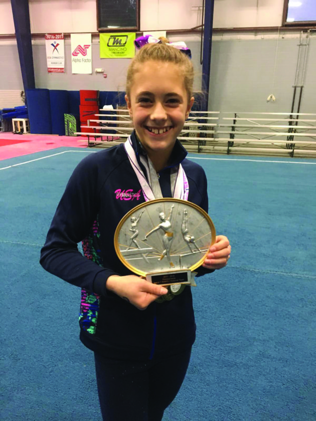 Abby Brushwood of the Centre Elite Competitive Gymnastics Team represents the Pennsylvania All-Star team. (Photo Provided)