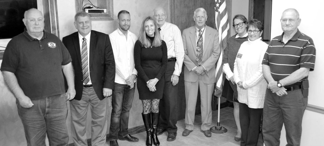 BOB ROLLEY/THE EXPRESS New officers and board members of the Kiwanis Club of Lock Haven pose after a recent meeting. From left are Vince Shay, Jeff Snyder, Jeff Miller, Amanda Keiffer, new president Art Gray, J. Michael Williamson, Angela Harding, Kiwanis Division 12N Lt. Governor Penny Meyers and John Frazier. Missing are Bill Hannelly, Becky MacIntyre and Sara Stine from the board, and Secretary Lisa Bangson.