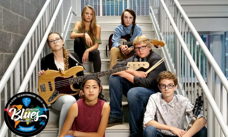 PHOTO PROVIDED Members of the Uptown Music Collective's 3rd Street Blues Band are, from left, in front: Izzy Brumbaugh and Cade Palmatier; in the middle row: Shayne Williams and Tate Berkey; and in back: Alexis Carnevale and Justin Warrender.