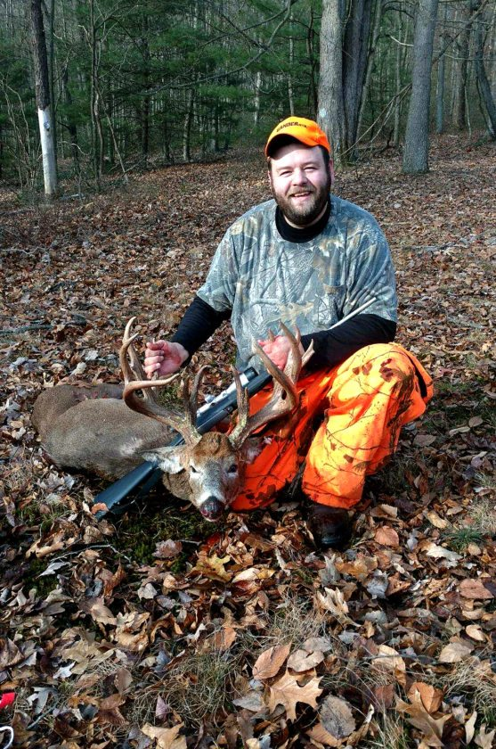 PHOTO PROVIDED Matthew Stabley, of McElhattan, harvested this 14 point non typical whitetail Saturday, Dec. 2 at 8:30 a.m. in Wayne Township, Clinton County. He used a 270 Winchester. The deer has been an unofficial score 192 with a 22 1/4 outside spread. It's thought to be aged at 51/2 years old. Stabley plans on having it mounted by Terry Wenker at Bear Mountain Taxidermy