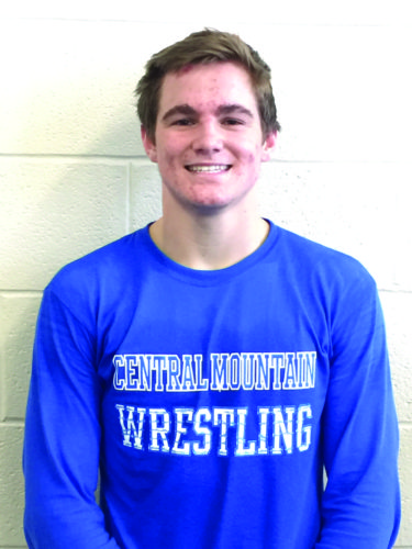 CM's Asher Corl poses for a photo right after a wrestling practice. (The Express/Scott Baker)