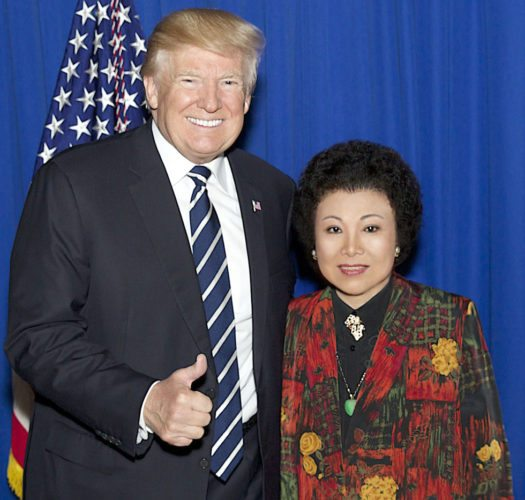 PHOTO PROVIDED BY WHITE HOUSE Dr. Grace Shu, formerly of Dunnstown, is seen with Pres. Donald Trump at Cipriani in Manhattan.