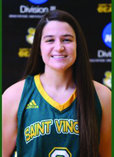 Junior Maria Morgan poses during a photoshoot for the St. Vincent College Women's Basketball team. (Photo Provided)