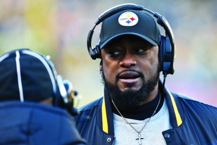 Pittsburgh Steelers head coach Mike Tomlin on the sideline during an NFL football game against the Jacksonville Jaguars, Sunday, Jan. 14, 2018, in Pittsburgh. (AP Photo/Keith Srakocic)