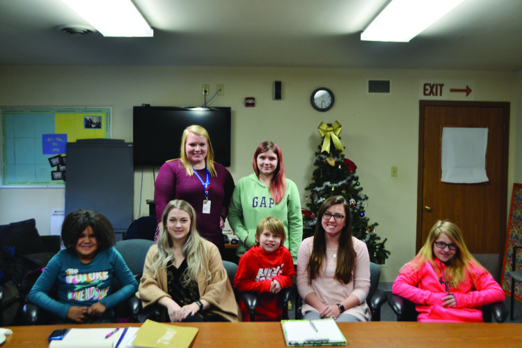 SARAH PAEZ/THE EXPRESS Mentor Madalyn Smith, ROMP coordinator Clarissa Shirk and ROMP coordinator Kaylee Mulhollan are pictured with program participants.