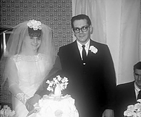 PHOTOS PROVIDED Karen and Galen Stone at their wedding.
