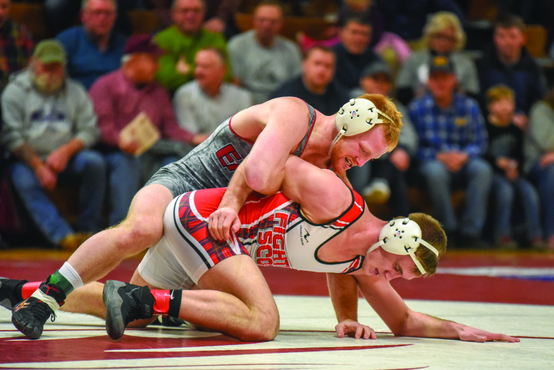 It was a good night of wrestling at Lock Haven University, but the Bald Eagles dropped a 22-14 loss to Edinboro. (The Express/Tim Weight)