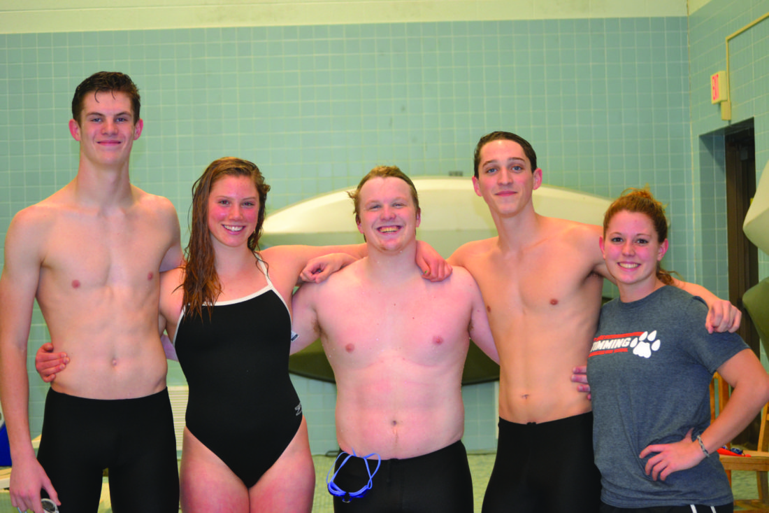 Pictured from left to right: Calvin Lesser, Emma Butzler, Tyler Wirth, Jacob Bower and Kendra White. The Express congratules JSHS's Class of 2018! (Photo Provided)
