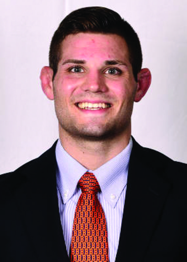 Chad Reese poses for a photo. Reese currently attends Bucknell as a wrestler and majors in Neuroscience. (Photo Provided)
