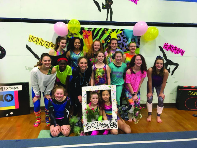 Lock Haven Area YMCA Gymnasts pose for a photo at the Allegheny Mountain Gymnastics League Championships. PICTURED: Row One: RandiLea Bilbay, Harper Conklin and Sophia Hardy; Row Two: Hunter Barger, Fatima Kaba, Julia Schubach, Dee Hefferon, Emma Evey, Emma Lee Fox and Ashley Rich; Row Three: Harleigh Andrews, Tatum Malone, Selia Irvin, Alyssa VanGorder, Hannah Brown. (Photo Provided)