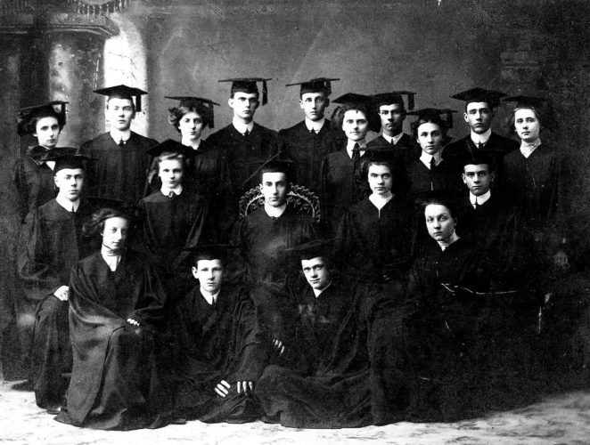 "PHOTO PROVIDED 'Do honor to their memory' This photo came from an anonymous reader, and we are glad to print it in our Old Photo Album. Even if you don't recognize anyone from this 118-year-old photo of the Lock Haven High School Class of 1910, you may well recognize some of the class members' last names. From left are, in front: Eleanor Seltzer, Robert Myers, Harold Swope and Ruby Kress; in the second row: Ned Wagner, Edith Lawrence, class president Joel Claster, class secretary Lillian Harvey and Charles Scheid; and in the third row: Gladys Lyon, Earl Quinlan, Ethel Probst, Hays Shaffer, Sharon McCloskey, Anna Waite, Frank Baird, Annabel Breinler, Clarence Wileou and Anna Klepper. The names are written on the back of the photo, along with this motto: ""When the names of '10 you see, Do honor to their memory."""