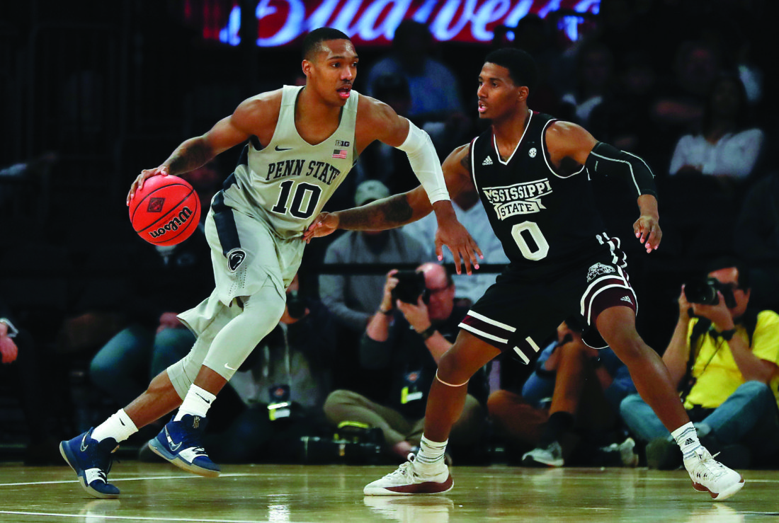 penn state guard tony carr 10 drives against mississippi state guard nick weatherspoon 0 during the second half of an ncaa college basketball game in - Madison Square Garden Jobs