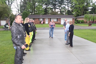 Former Prisoner of War Lt. Robert Pioli was recognized April 29 at his home in Devola for his service during World War II and the events that led to his liberation from the POW camp in Moosburg.
