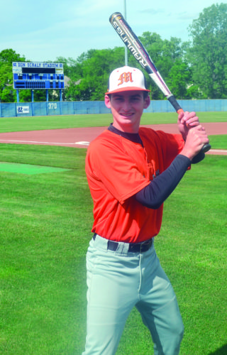 RON JOHNSTON The Marietta Times Marietta senior Turner Hill has started in center field for four years under head baseball coach Jim Thrash. He's hoping to cap off his high school career with a trip to the state tournament.