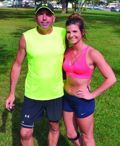 JORDAN HOLLAND The Marietta Times Erwin DeGraef, left, and daughter Demi DeGraef will be running in their third Parkersburg News and Sentinel Half Marathon together in August.